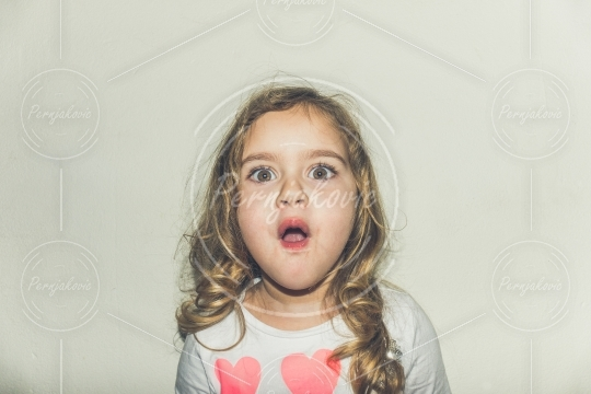 Young girl with magic eyes