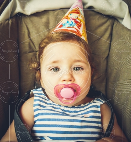Party portrait of a baby girl