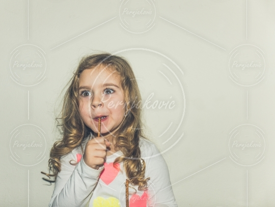 Funny young girl
